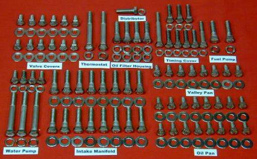 263 Pc International V-8 Stainless Hex Engine Bolt Kit
