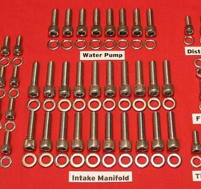 39-48 Ford Flathead Stainless Steel Allen Bolt Engine Kit