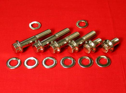 Polished Stainless Steel Lower Motor Mount Kit