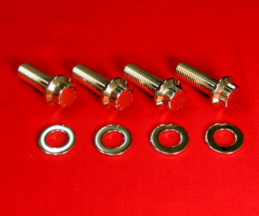 Banshee Polished Grade 8 Stainless Foot Peg Bolt Kit