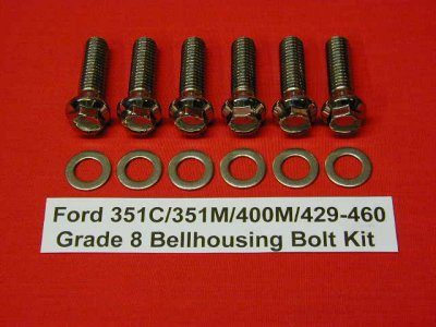 Ford 429-460 Grade 8 Stainless ARP Bellhousing Kit