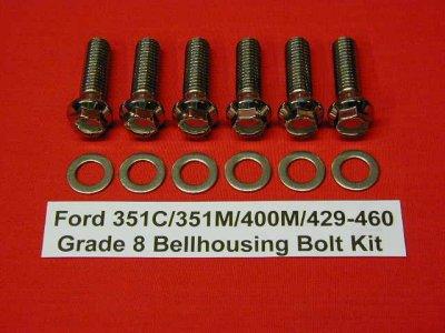 Ford 429-460 Grade 8 Stainless ARP Bellhousing Kit