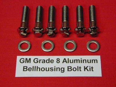 GM Grade 8 Stainless ARP Aluminum Bellhousing Kit