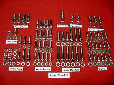 Olds Grade 8 Stainless ARP Engine Bolt Kit