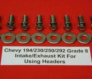 Chevy 194-292 Grd 8 Stainless Aftermarket Header/Intake Bolts