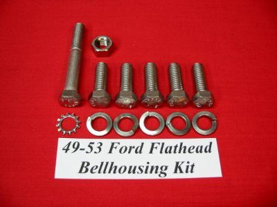 49-53 Ford Flathead Stainless Steel Bellhousing Kit