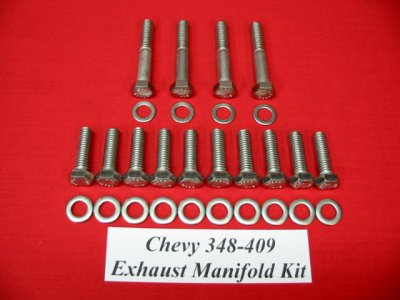 348 Stock Exhaust Manifold Hex Bolt Kit
