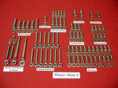 Mopar Slant 6 Stainless Hex Engine Bolt Kit