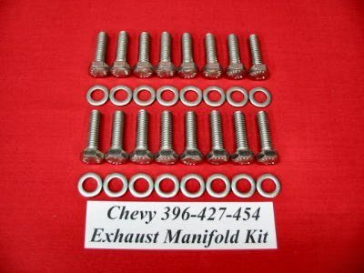 Big Block Chevy Exhaust Manifold Stainless Steel Hex Bolt Kit