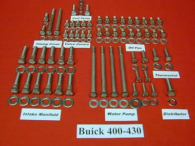 215 Pc Buick 400-430 Stainless Hex Engine Bolt Kit