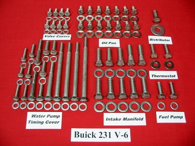 Buick V-6 Hex Engine Bolt Kit