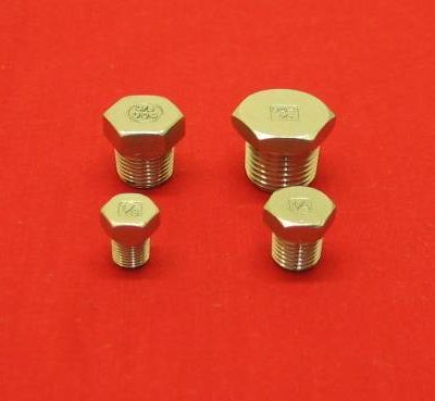 1/4 Stainless Hex Head Tapered Pipe Plug