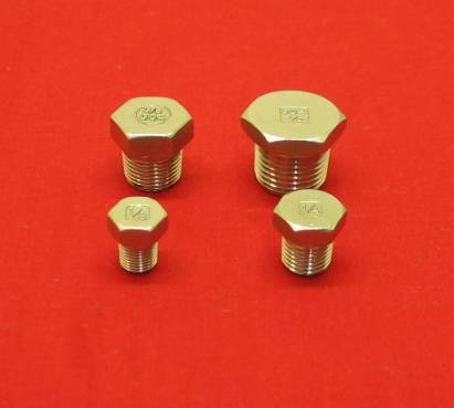 1/8 Stainless Hex Head Tapered Pipe Plug