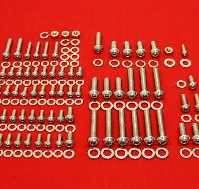 204 Pc Olds V-8 Polished Button Head Bolt Kit