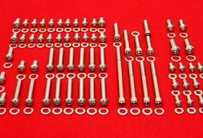 Small Block Ford Polished Stainless Button Engine Kit