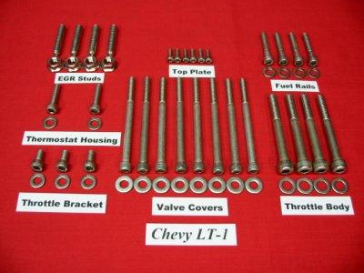 LT-1 LT-4 350 Stainless Steel Top Half Allen Bolt Kit