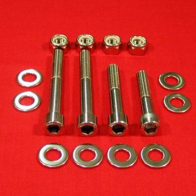 Polished Stainless Steel Banshee Rear Shock & Linkage Bolt Kit