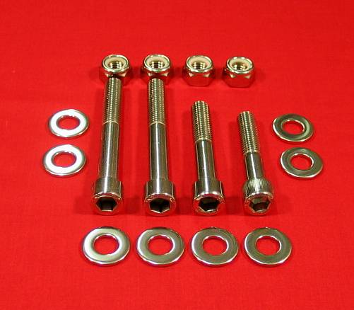 Polished Stainless Steel Banshee Rear Shock & Linkage Bolt Kit