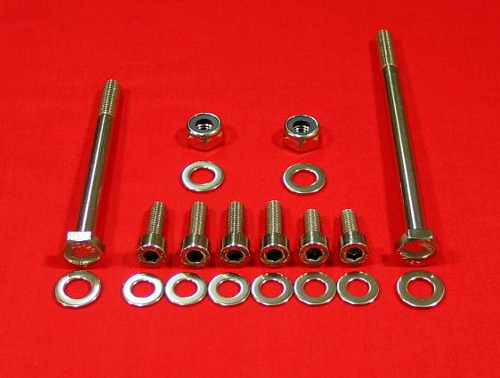 Polished Stainless Steel Banshee Motor Mount Bolt Kit