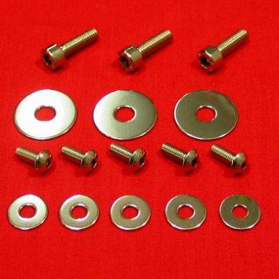 Polished Stainless Banshee Radiator Mount & Shroud Kit