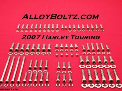2007 & UP FLH-FLT Polished Allen Bolt Kit