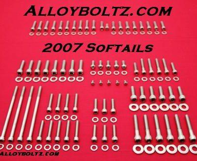 2007 & UP Softail Show Polished Allen Bolt Kit