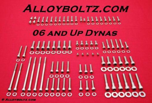 2006 & Up Dyna Show Polished Allen Bolt Kit