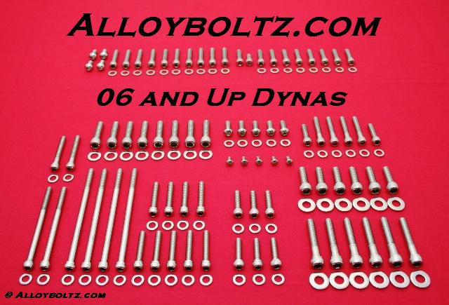 2006 & Up Dyna Show Polished Allen Bolt Kit