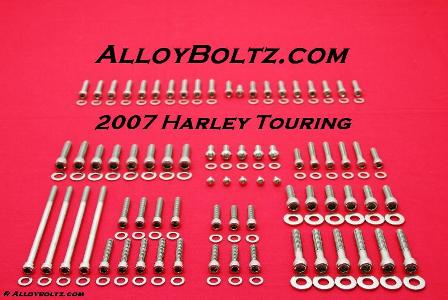 2007 & UP FLH-FLT Show Polished Allen Bolt Kit