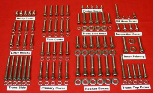 1999 to 2006 FLT-FLH Show Polished Stainless Allen Bolt Kit