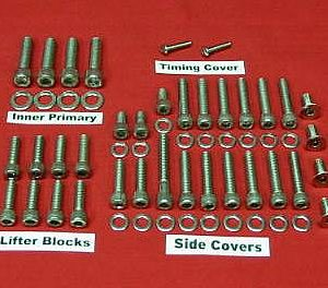 1970-1984 FLH Shovelhead Show Polished Allen Bolt Kit