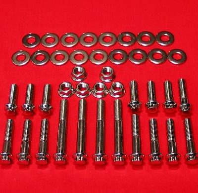 1999-2005 Dyna Show Polished Grade 8 Stainless Motor Mount Kit