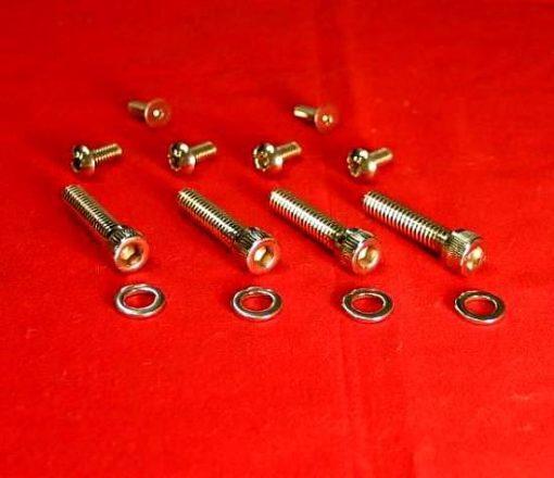 1982-1995 Polished Harley Switches & Levers Bolt Kit