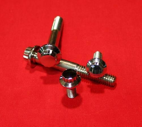 1982-1995 Polished Harley Switches & Levers ARP Bolt Kit