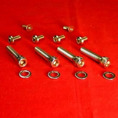 1972-1981 Polished Harley Switches & Levers Bolt Kit