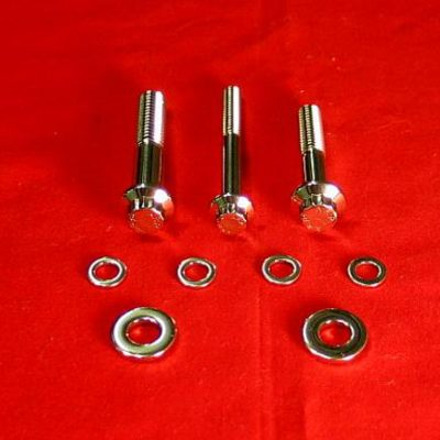 1999-2008 FLT-FLH Polished Grade 8 Rear Footboard Bolt Kit