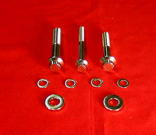 1999 & Up Dynas Show Polished Grade 8 Footpeg Attaching Bolt Kit