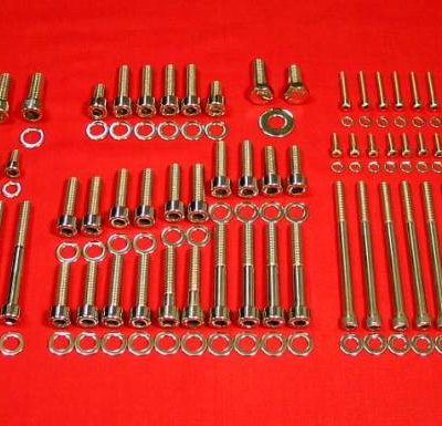 GM TPI Tuned Port Injection Polished Stainless Top Half Bolt Kit