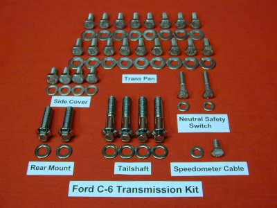 Ford AOD Polished Transmission Kit