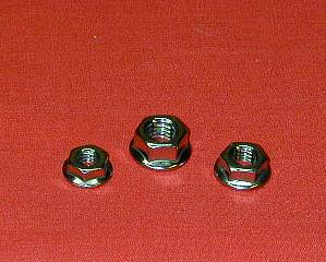 1966-1984 Polished Harley Rocker Box 6pt Flange Nut Kit