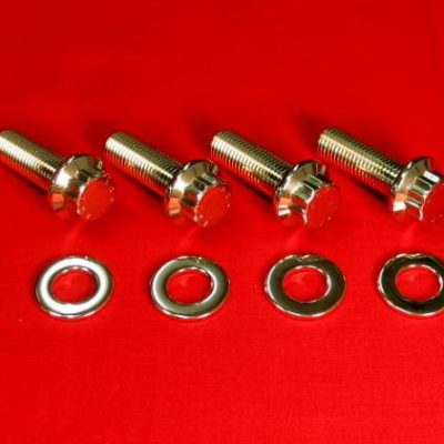 1987-88 KXF250 Tecate 4 Polished Grade 8 Stainless FootPeg Bolts
