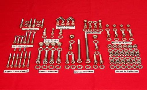 2008-14 KFX400 Polished Stainless ATV Engine Only Bolt Kit