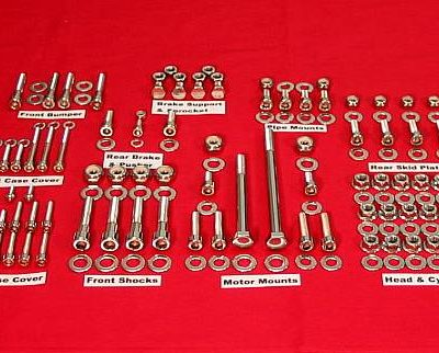 2008-14 KFX450R Show Polished Stainless ATV Engine Only Bolt Kit