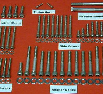 1996-2004 HONDA XR250 XR250R POLISHED STAINLESS BOLT KIT