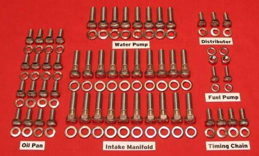 37-40 Ford Flathead V8-60 Stainless Steel Hex Engine Bolt Kit