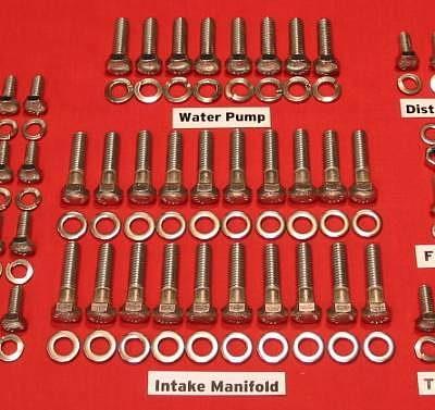 37-40 Ford Flathead V8-60 Stainless Steel Allen Engine Bolt Kit