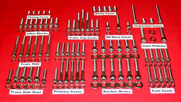 1999 to 2005 Dyna Polished Stainless Allen Bolt Kit