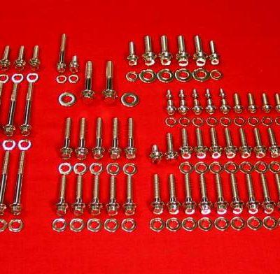 1999 to 2006 FLH-FLT Polished Grade 8 Stainless Engine Bolt Kit