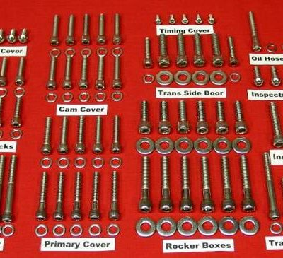 1999 to 2006 FLT-FLH Polished Stainless Allen Bolt Kit