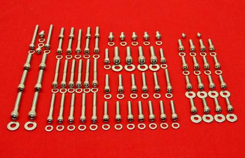 1987-1999 Softail Polished Stainless Engine Allen Bolt Kit